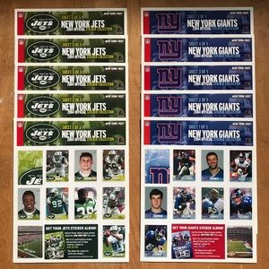 2004 NY Jets & Giants Sticker Collection